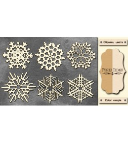 """Набор чипборда """"Снежинки 3"""", 10см x 15 см"""