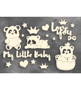 """Набор чипборда """"My little baby girl-1"""",  10  x 15 см"""