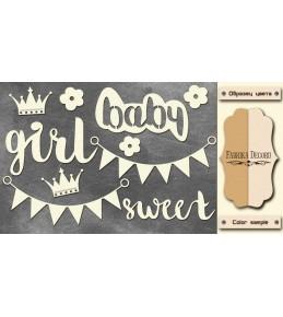 """Набор чипборда """"Sweet baby girl"""",  10 x 15 см"""