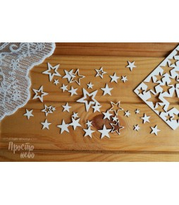 """Чипборд """"Скругленные звезды"""" 10.5х7.5 см"""