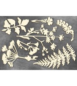 """Набор чипборда """"Летняя ботаника"""", 10  x 15 см"""