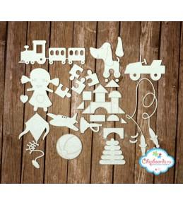 "Чипборд  ""Детские игрушки [1]"" 11.5*16.5 см"