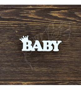 """Чипборд   """"Baby с короной"""""""