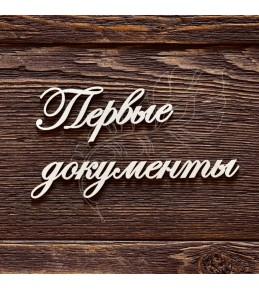 """Чипборд-надпись """"Первые документы"""""""