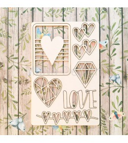 """Набор чипборда """"Love is..."""""""