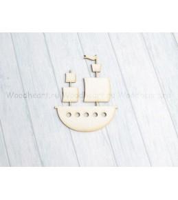 """Чипборд """" Кораблик"""" , AST-233, размер 7*5,5 см"""